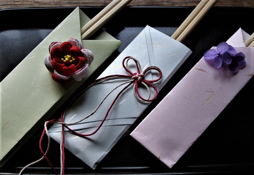 お正月の折り紙、おしゃれで簡単な箸袋
