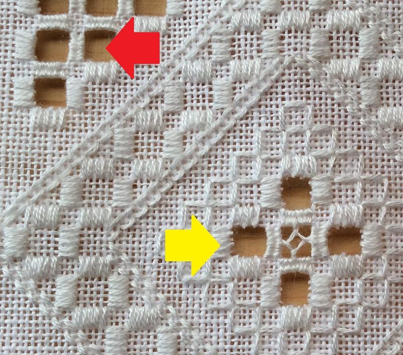ハーダンガー刺繍ではさみが大事な理由がわかる写真
