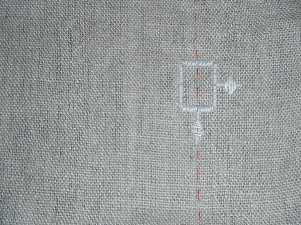 ハーダンガー刺繍の布の注意点