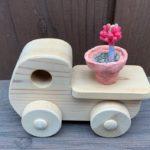 樹脂粘土の多肉植物と石塑粘土の植木鉢