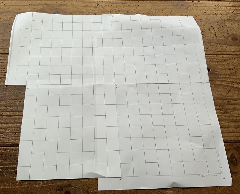 刺し子の図案の写し方
